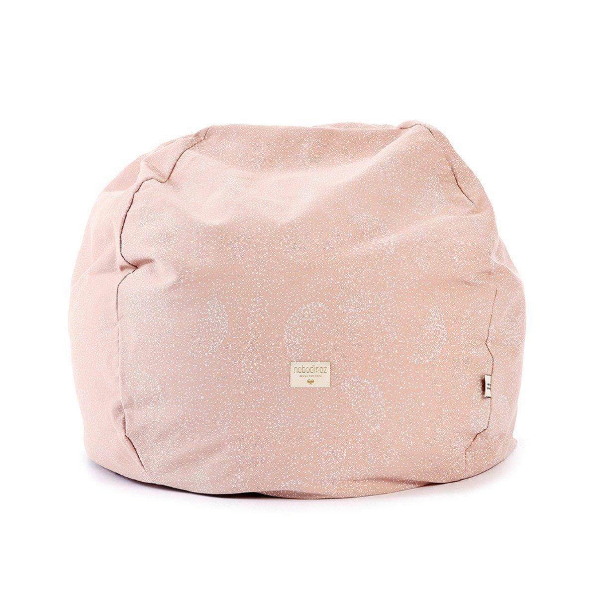 Nobodinoz Kinder-Sitzsack ´´Balloon´´ inkl. Füllung aus Baumwolle (60x60x44  cm) rosa mit Punkten in weiß
