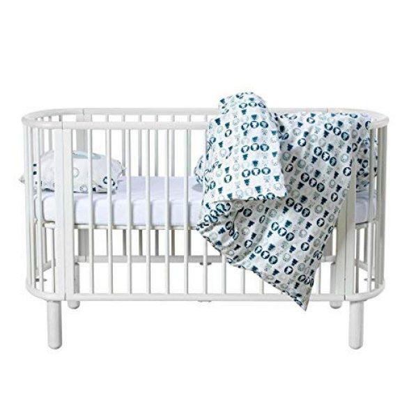 Flexa Mitwachsendes Baby Kinderbett Aus Buchenholz In Weiss Mit