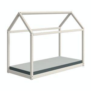 Flexa COTTAGE Einzelbett – Hausbett (90×200 cm) aus Kieferholz in WhiteWash Kinderbetten