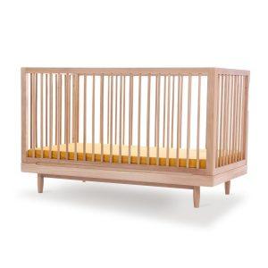 """Nobodinoz Babybett """"Pure"""" aus Eichenholz (70×140 cm) mit höhenverstellbarer Liegefläche in natur Kinderbetten"""