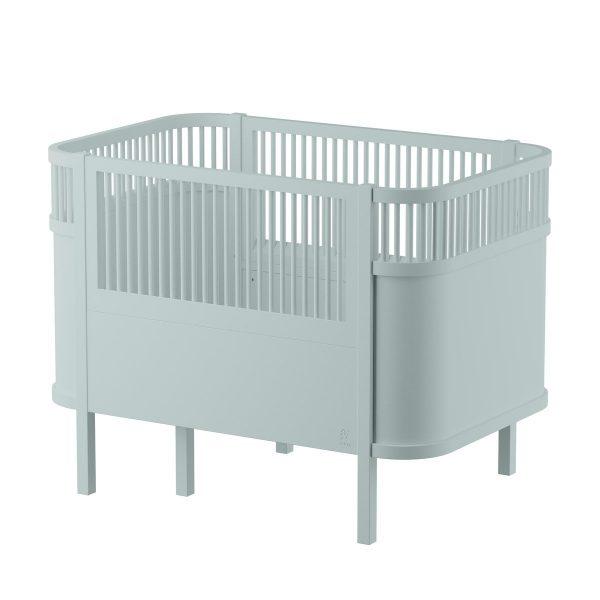 Sebra Babybett & Kinderbett mitwachsend & höhenverstellbar (ab Geburt bis 6 Jahre) in hell-grün Kinderbetten