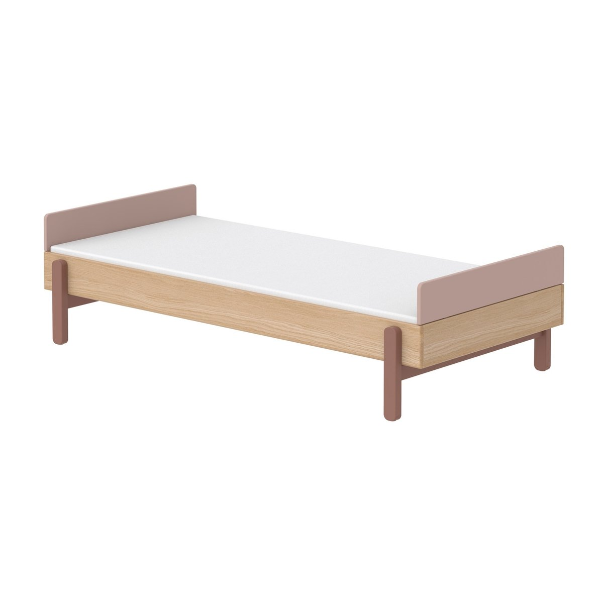 """Flexa großes Kinderbett """"Popsicle"""" aus Holz (120×200 cm) mit hohem Kopfteil, TÜV-geprüft (ab 4 Jahre) in grün Kinderbetten"""