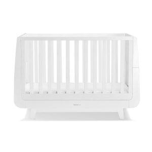 """Snüz Babybett """"SnüzKot"""" Luxe-Kollektion aus Buchenholz höhenverstellbar und mitwachsend in weiß Kinderbetten"""