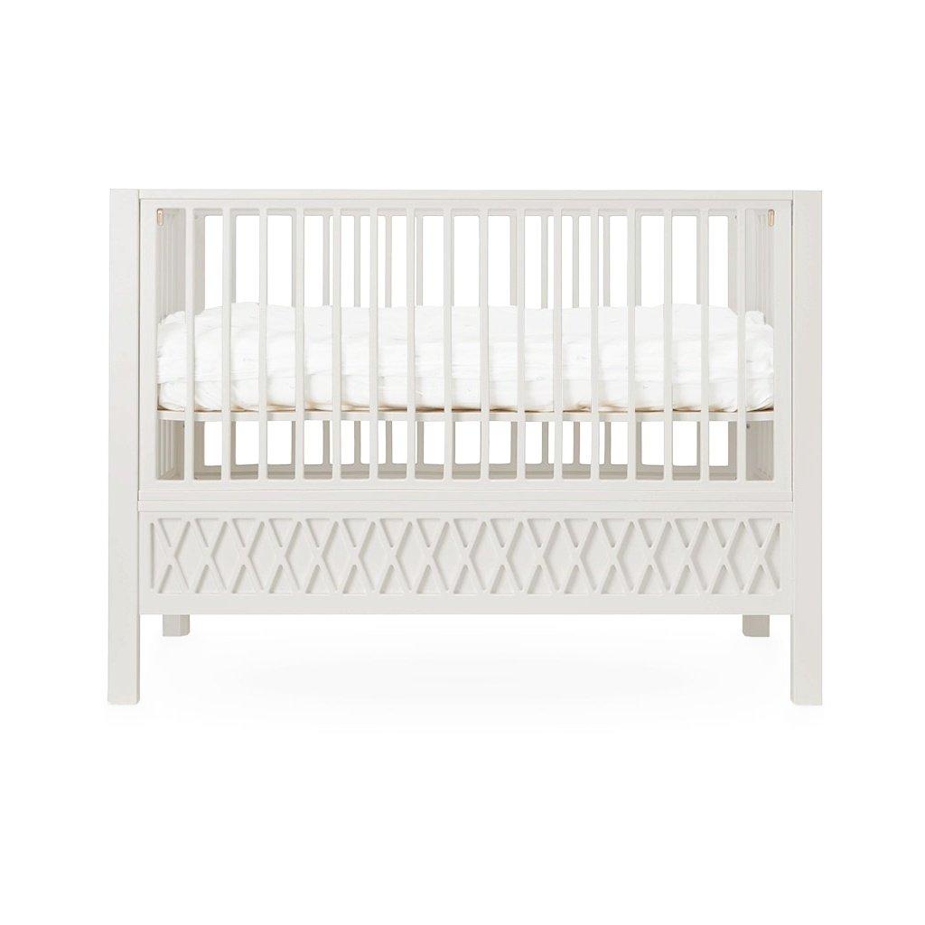 "CamCam Babybett ""Harlequin"" (60×120) höhenverstellbar in grau Kinderbetten"