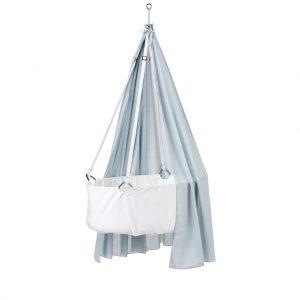 Leander Himmel für Wiege (Höhe: 170 cm) in blau / Misty Blue Babywiege