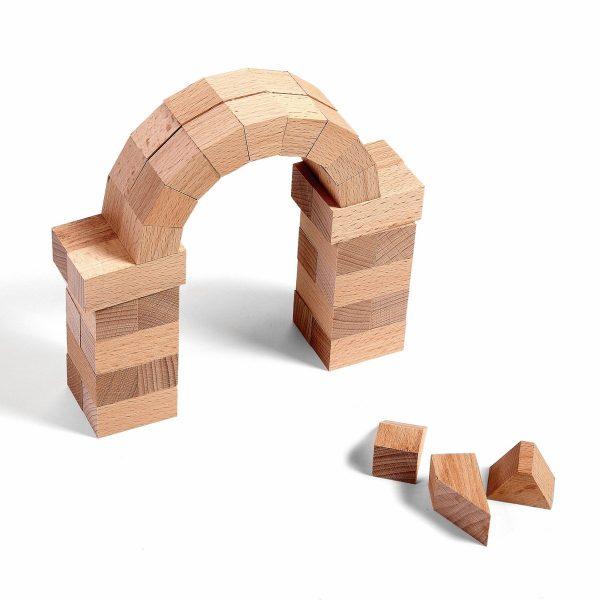 "Wodibow Holzbauklötze ""Arching"", Buchenholz, 43-teilig (ab 5 Jahren) Holzspielzeug"