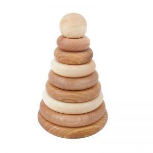 Wooden Story Stapelturm aus Holz für Babys, natur (ab 1 Jahr) Holzspielzeug