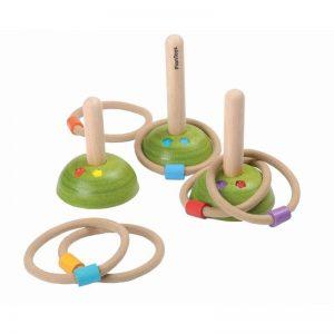 Plantoys Ringwurf – Holzspielzeug (ab 3 Jahren) Holzspielzeug