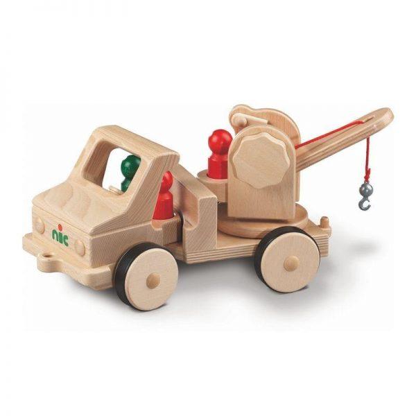Nic Creamobil Grundmodell mit Abschleppkran   Modell: 1809 (ab 18 Monate) Holzspielzeug