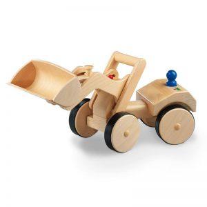 Nic Creamobil Radlader Holzfahrzeug | Modell: 1875 (ab 18 Monate) Holzspielzeug