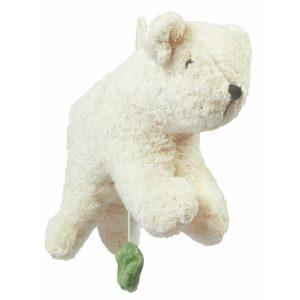 "Senger Naturwelt Musik-Mobile ""Eisbär"" aus Öko-Baumwolle (18,5×26 cm) handmade in weiß Mobilés"
