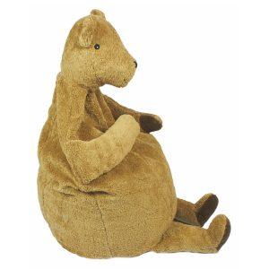 Senger Naturwelt Sitzsack Bär aus Öko-Baumwolle (90x100x50 cm) handmade in beige Sitzsäcke