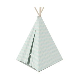 """Flexa Tipi Zelt """"Harlekin"""" aus Baumwolle inkl. Bodenmatte in blau weiß (Höhe 140 cm) Zelte"""