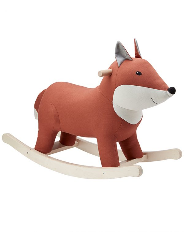 Kids Concept Schaukeltier FUCHS EDVIN in rotbraun Kinderspielzeug