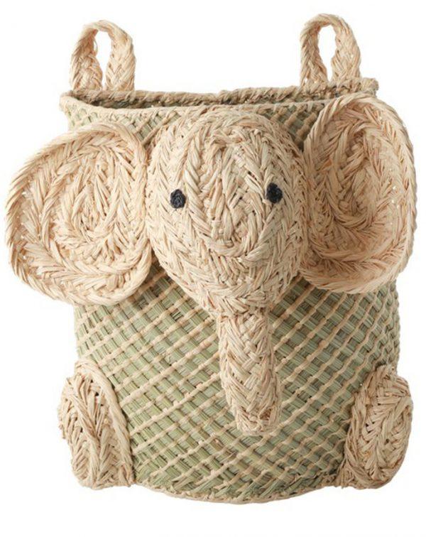 rice Hänge-Aufbewahrungskorb ELEPHANT in natur Aufbewahrung