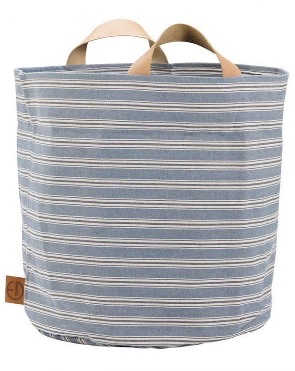 Elodie Details Aufbewahrungskorb StoreMyStuff – SANDY STRIPE (Ø45) in blau/beige Aufbewahrung