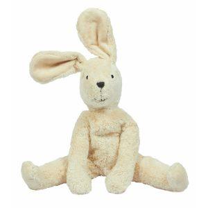 """Senger Naturwelt Schlenker Tierpuppe """"Hase"""" groß aus Öko-Baumwolle (40×24 cm) handmade in weiß Kuscheltiere"""