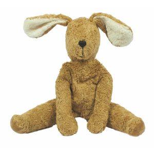 """Senger Naturwelt Schlenker Tierpuppe """"Hase"""" groß aus Öko-Baumwolle (40×24 cm) handmade in beige Kuscheltiere"""
