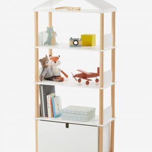 """Bücherregal """"WOODY"""" in Hausform weiß/natur von vertbaudet Bücherregal Kinderzimmer"""