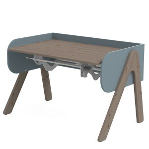 FLEXA Schreibtisch WOODY (50/83x120x70) höhenverstellbar in terra/blau Kinderschreibtische
