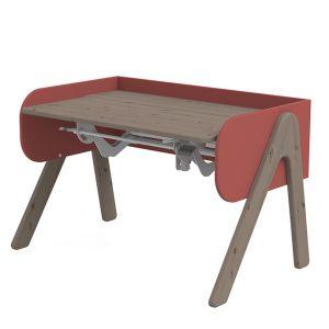 FLEXA Schreibtisch WOODY (50/83x120x70) höhenverstellbar in terra/rot Kinderschreibtische