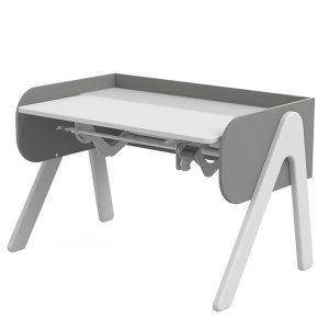 FLEXA Schreibtisch WOODY (50/83x120x70) höhenverstellbar in weiß/grau Kinderschreibtische