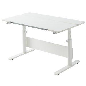 FLEXA Schreibtisch EVO (56/79x120x70) mit zweiteiliger Platte in weiß Kinderschreibtische