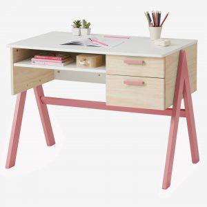 """Schreibtisch """"Farbtupfer"""" himbeer von vertbaudet Kinderschreibtische"""