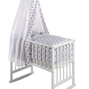 Schardt Babywiege VARIO BIG STARS 5in1 Buche in weiß/grau Babywiege