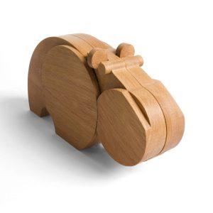 """Wodibow Buchenholz-Nilpferd """"Hipu"""" 22-teilig, magnetisch (ab 3 Jahren) Holzspielzeug"""
