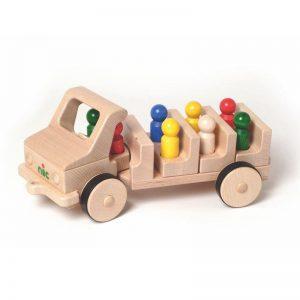 Nic Creamobil Omnibus Holzfahrzeug   Modell: 1816 (ab 18 Monate) Holzspielzeug