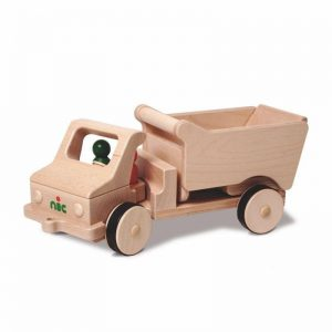 Nic Creamobil Fahrzeug lang mit Kippmulde | Modell: 1814 (ab 1 Jahr) Holzspielzeug