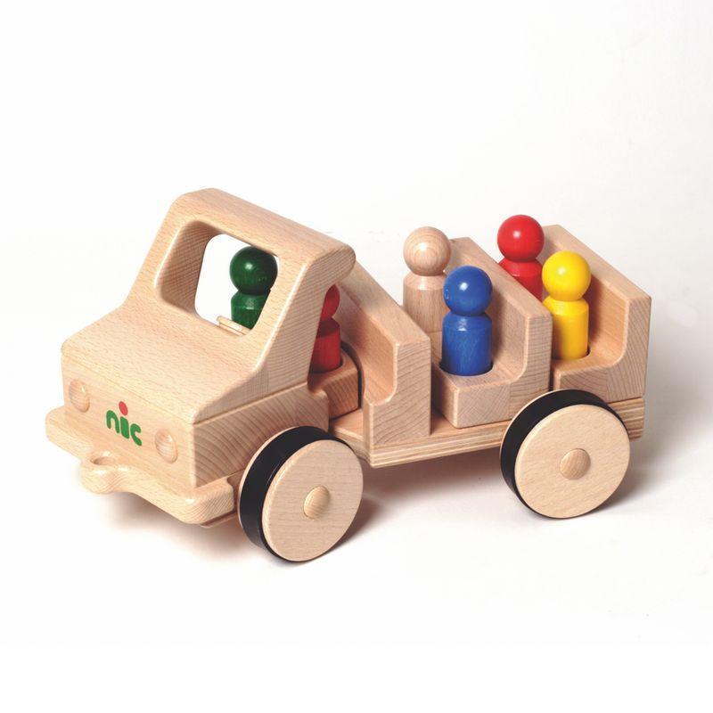 Nic Creamobil Fahrzeug lang mit Kippmulde   Modell: 1814 (ab 1 Jahr) Holzspielzeug