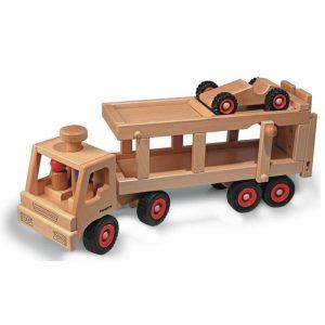 FAGUS Autotransporter Holzfahrzeug   Modell: 10.49 (ab 2 Jahren) Holzspielzeug
