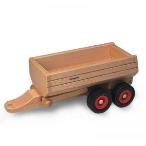 FAGUS Muldenkipper Anhänger für Holzfahrzeug   Modell: 10.31 (ab 3 Jahren) Holzspielzeug