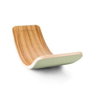 """Wobbel Balance-Board Original """"Honey"""" aus Buchenholz mit Filz in grün Marken"""