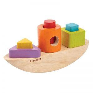 """Plantoys Sortierspiel aus Holz """"Boot zum Sortieren"""" (ab 18 Monaten) Holzspielzeug"""