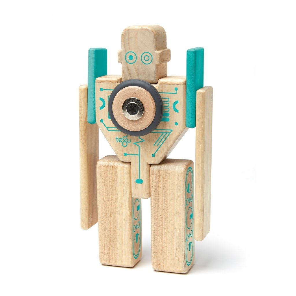 """Tegu Magnetbausteine aus Holz """"Prism – Natural"""" inkl. Filztasche 6-teilig (ab 1 Jahr) Holzspielzeug"""
