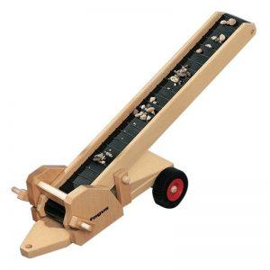 FAGUS Förderband Holzfahrzeug-Anhänger | Modell: 10.58 (ab 3 Jahren) Holzspielzeug