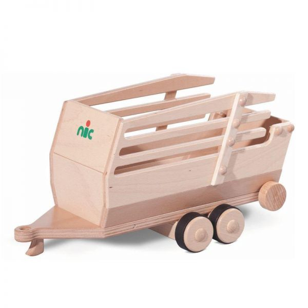 Nic Creamobil Ladewagen Holzfahrzeug-Anfänger | Modell: 1829 (ab 1 Jahr) Holzspielzeug