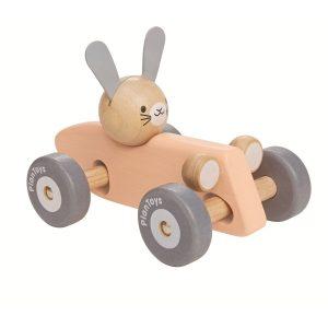 """Plantoys """"Rennauto Hase"""" Holzauto für Kinder (ab 1 Jahr) Holzspielzeug"""