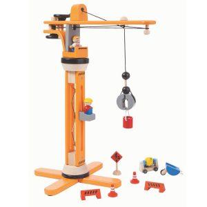 Plantoys Kran-Set aus Holz (ab 3 Jahren) Holzspielzeug