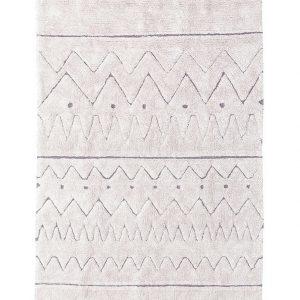 Lorena Canals Teppich RUGCYCLED® – AZTECA (120×160) in beige Teppiche