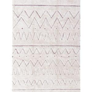 Lorena Canals Teppich RUGCYCLED® – AZTECA (140×200) in beige Teppiche