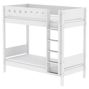FLEXA Maxi Etagenbett WHITE (90×200) mit gerader Leiter in weiß Hochbetten