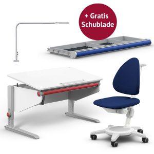 Moll Aktionspaket: Schreibtisch Winner Classic mit Maximo, Flexlight und GRATIS Schublade Kinderschreibtische
