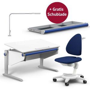 Moll Aktionspaket: Schreibtisch Winner Comfort mit Maximo, Flexlight und GRATIS Schublade Kinderschreibtische