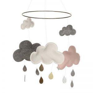 Konges Slojd Wolken Mobile Pinkberry Mobilés